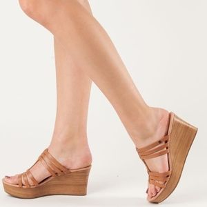 UGG Mattie wedge sandal leather heel slip on